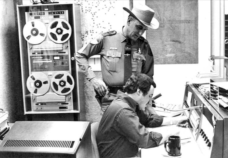Texas Department of Public Safety Dispatch logging reel tape recorders