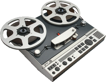 Lyrec PR1 reel tape recorder photo in the Museum of magnetic Sound Recording