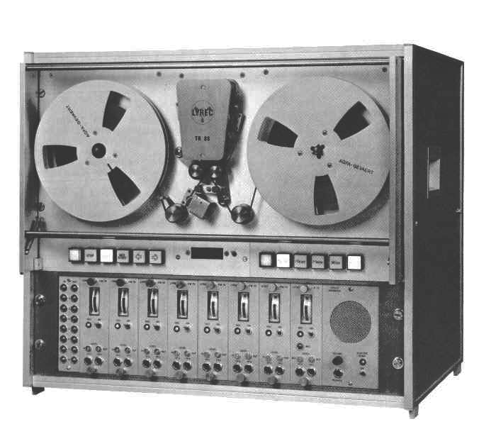 "Lyrec TR86	Instrumentation recorder, 8-track on 1/4"" photo in the Reel2ReelTexas.com vintage reel tape recorder recording collection"