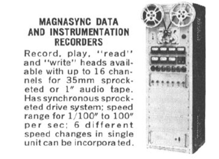 Magnasync data recorder ad