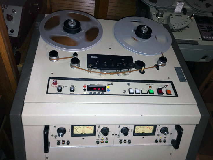 MCI JH-110 professional reel to reel tape recorder in the Reel2ReelTexas.com vintage reel tape recorder recording collection