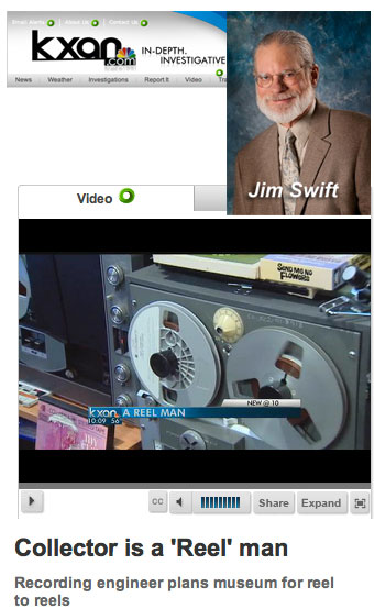 Jim Swift's interview about the Museum of MAgnetic Sound Recording and reel to reel tape recorders