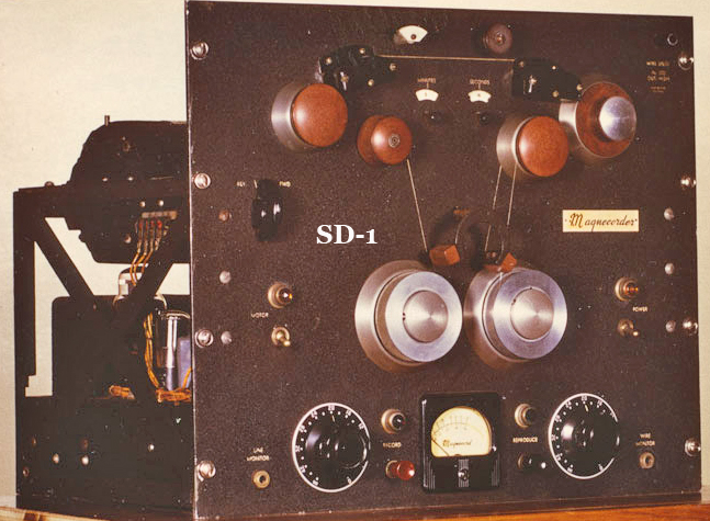 "Magnecord's professional wire recorder - the SD-a for ""Super Duper"" in the Museum of Magnetic Sound Recording"