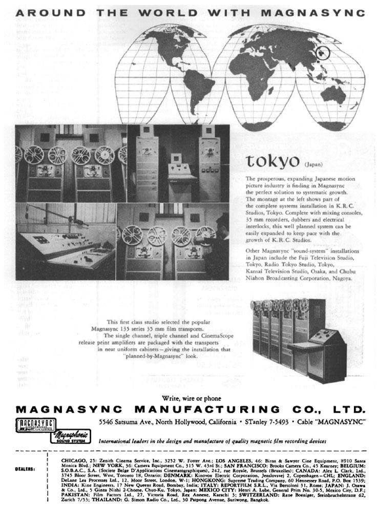 Magnasync ad Around the world