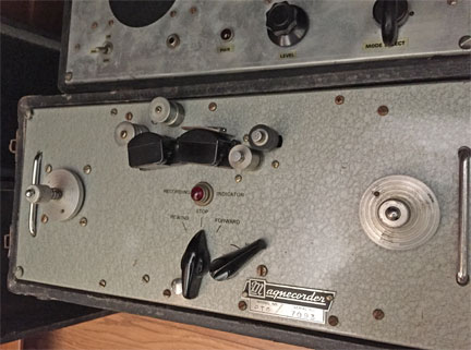Magnecord PT-6 with its companion amplifier donated by Dave Boyers