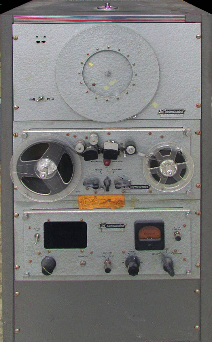 Magnecord timer set-up using the PT-6 reel to reel tape recorder