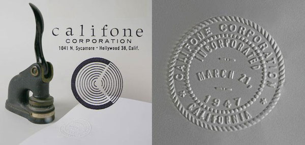 Califone seal March 21, 1947