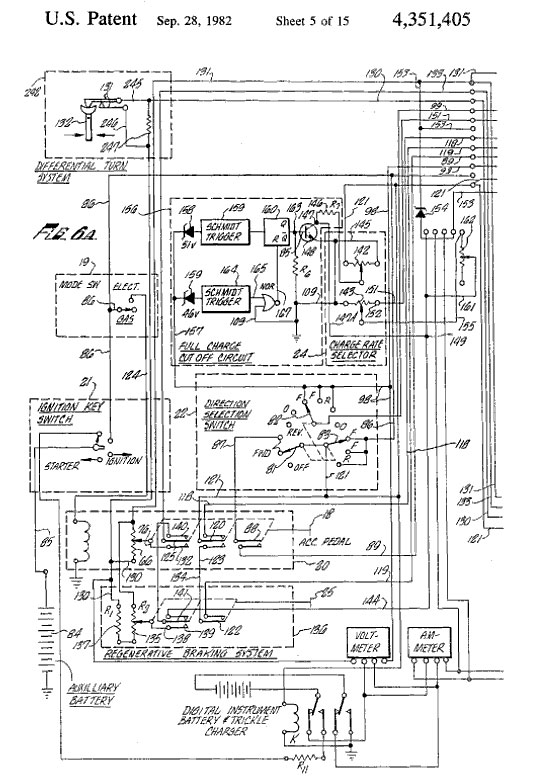 Robert G. Metzner patent for hybrid automobile