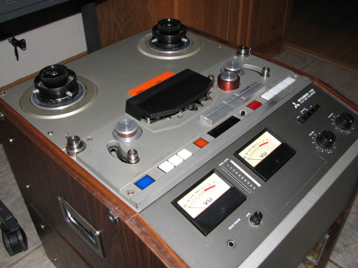 "Mitsubishi X-80 ProLogic, razor blade editable, 1/4"" stereo, PCM digital reel to reel recorder donated by Ed Helvey"