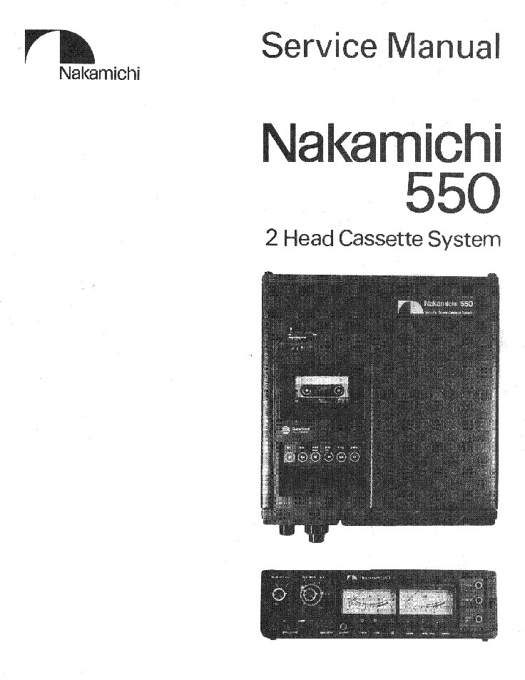 Manual cover for the Nakamichi 550cassette deck in Reel2ReelTexas.com's vintage recording collection