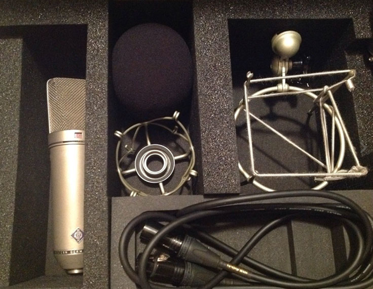 Neumann U87 microphone in the Reel2ReelTexas / Museum of Magnetic Sound Recording vintage recording collection