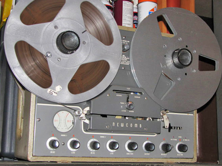 Newcomb SM-310 reel to reel tape recorder in the Reel2ReelTexas.com vintage reel tape recorder recording collection