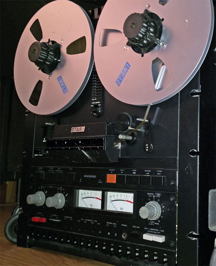 This Otari MX-5050 B2 HD was donated to MOMSR by the Hugh Sparks Estate to the Museum of MAgnetic Sound Recording