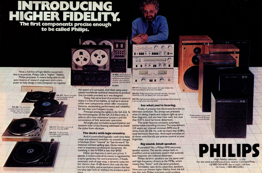 Philips ad in the Reel2ReelTexas.com vintage recording collection