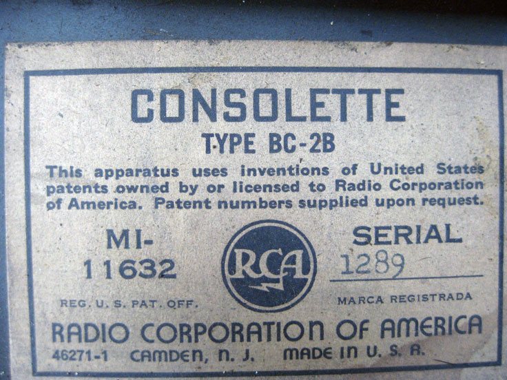 RCA Consolette MI-11632 Type BC-2B in the reel2reeltexas.com - Museum of Magnetic Sound Recording