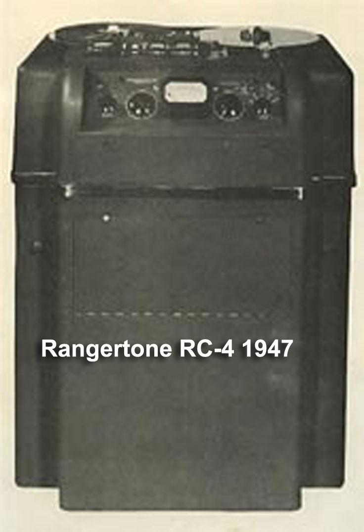 Rangertone RC-4 reel to reel tape recorder produced in 1947 in the Reel2ReelTexas.com vintage reel tape recorder recording collection