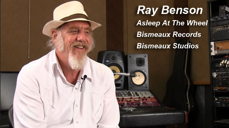 Ray Benso Asleep At The Wheel and Bismeaux being interviewed for the Museum of Magnetic Sound Recording