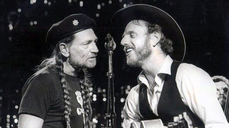 Willie Nelson and Ray Benson early photo