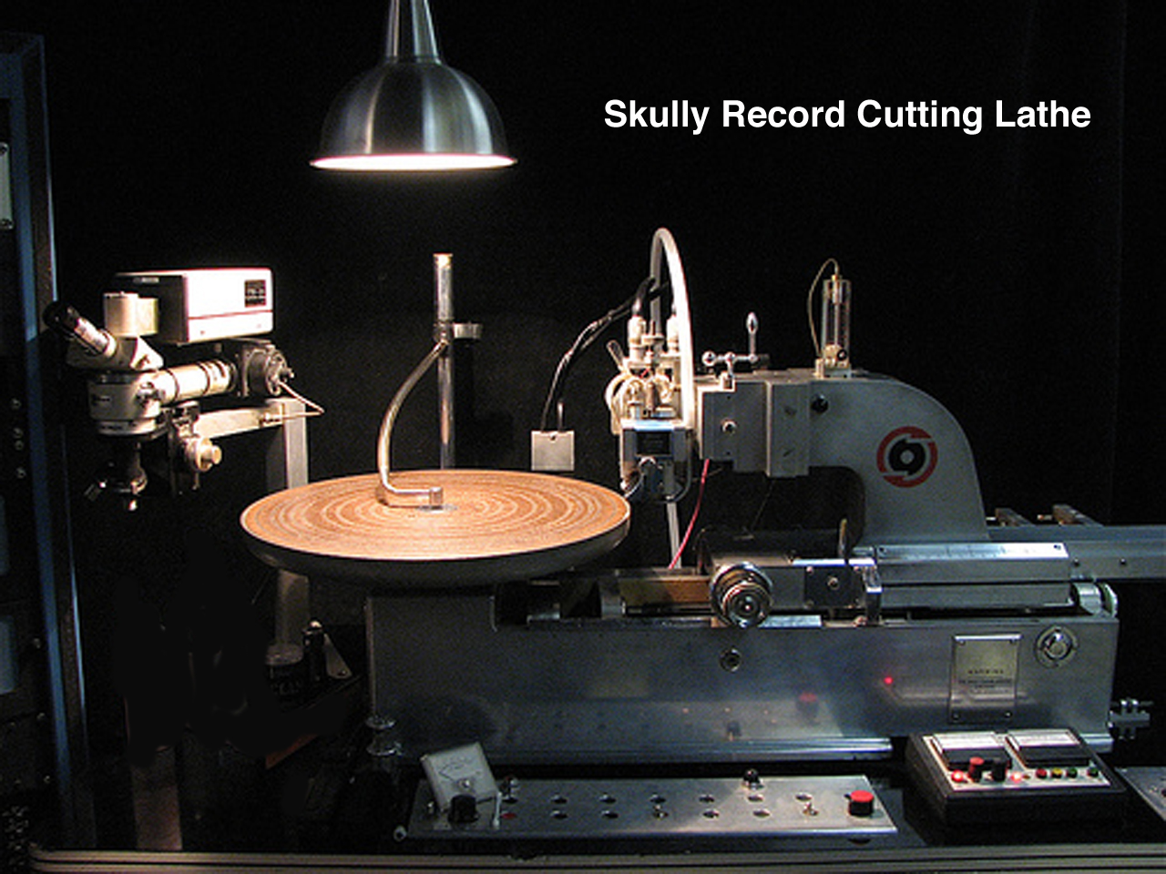 Scully lathe in the Reel2ReelTexas.com vintage reel tape recorder recording collection