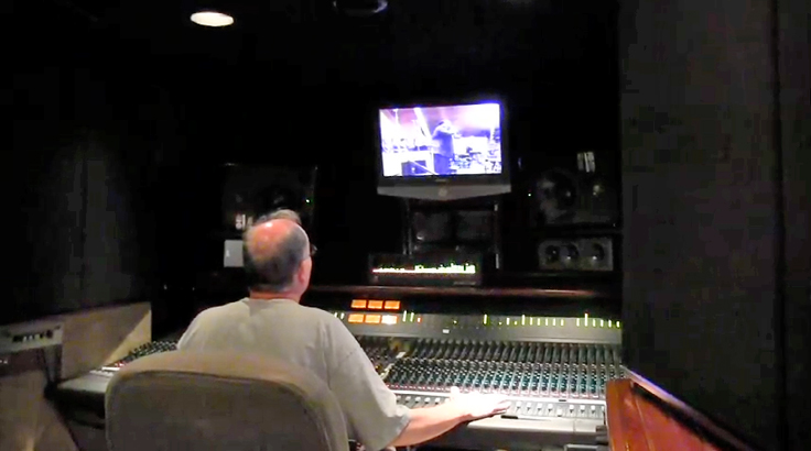Reelsound's Malcolm Harper' mixing the Austin's  Mt. Sinai Baptist Church recording session