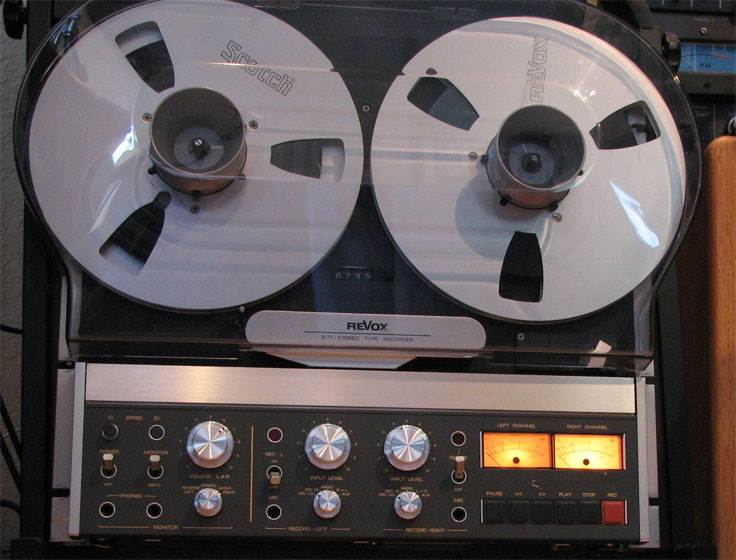 Revox B77 reel to reel tape rcorder in the Reel2ReelTexas.com vintage recording collection