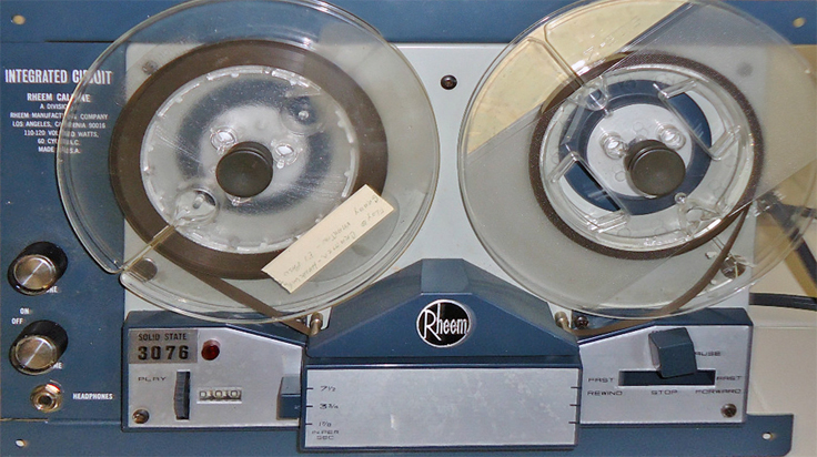 Rheem Califone AV3076 Solid State reel tape recorder