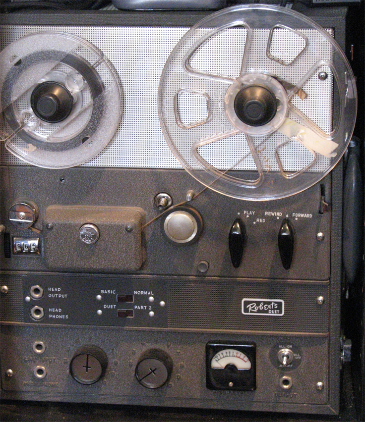 One of the first Roberts reel to reel tape recorders made byAkai in the Reel2ReelTexas.com vintage recording collection