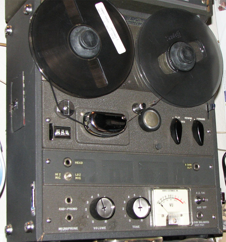 1962 Roberts 192-FT reel tape recorder in the Reel2ReelTexas.com vintage recording collection