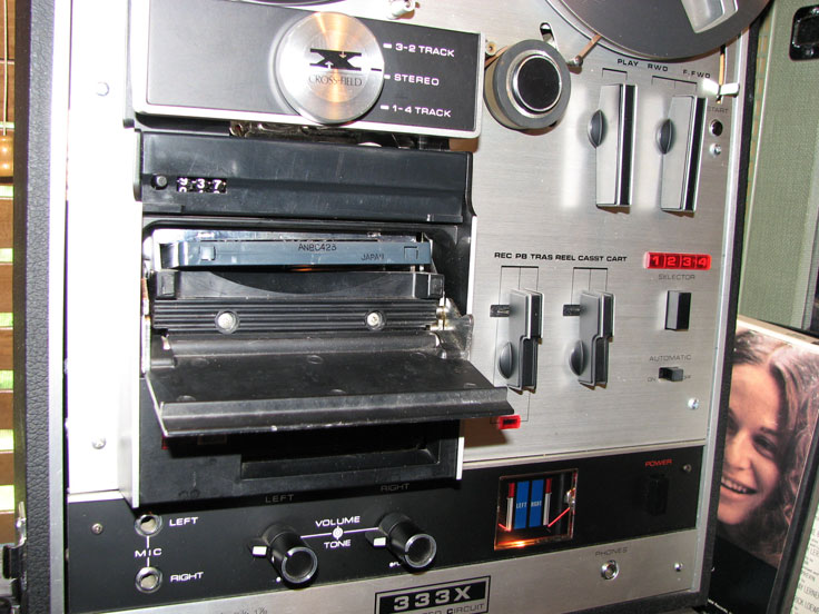 Akai 333X R2R, Cassette 7 8-track reel to reel tape recorder in the Reel2ReelTexas.com vintage recording collection