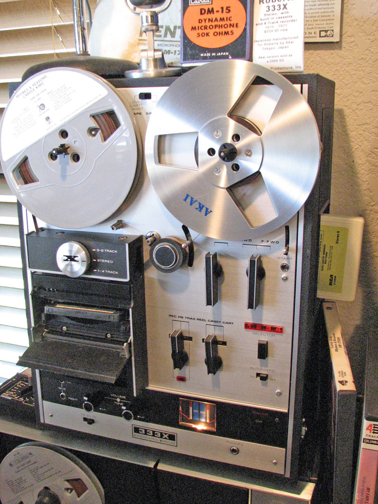 1970 Roberts 333X cassette, 8-track & reel tape recorder in the Reel2ReelTexas.com vintage recording collection