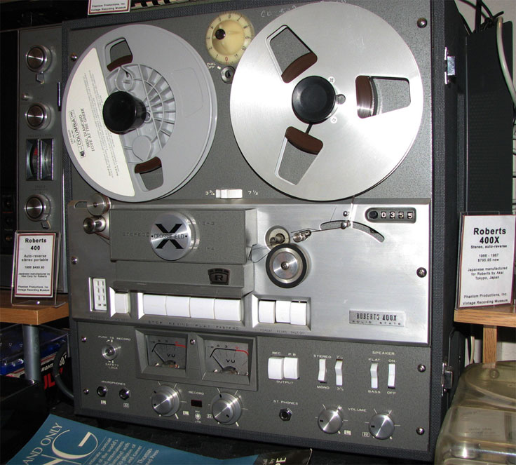 Roberts 400X in the Reel2ReelTexas.com vintage reel tape recorder recording collection
