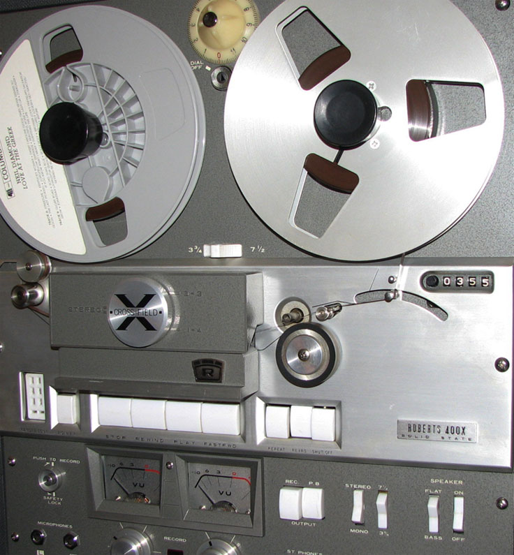 1966 Roberts 400X reel tape recorder in the Reel2ReelTexas.com vintage recording collection