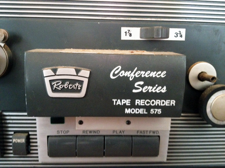 1969 ad for the Roberts 575 - 8 track conference  Reel to Reel Tape Recorder