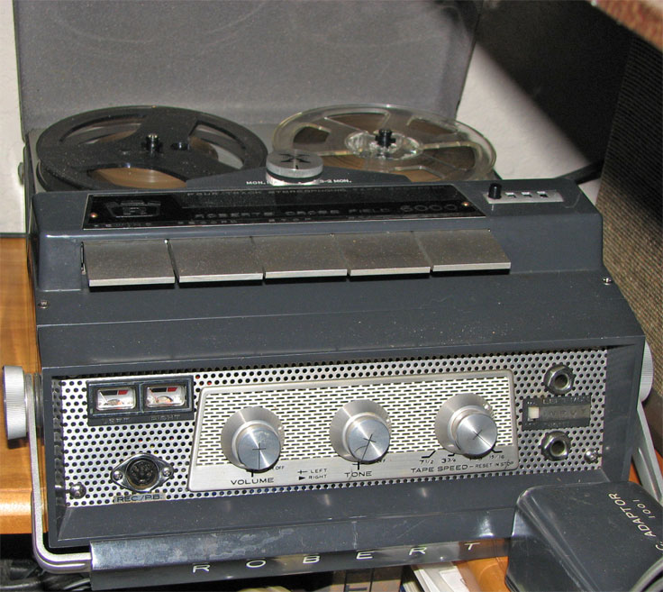 1965 Roberts 6000reel tape recorder in the Reel2ReelTexas.com vintage reel tape recorder recording collection