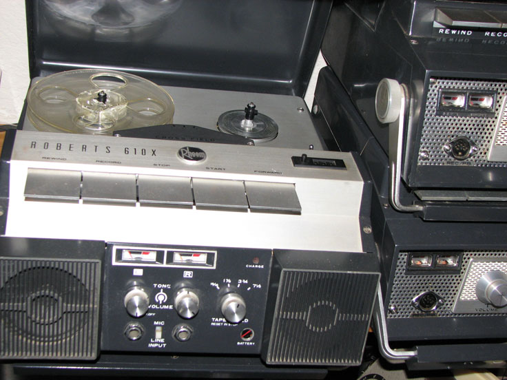1970 Roberts 610X reel tape recorder in the Reel2ReelTexas.com vintage reel tape recorder recording collection