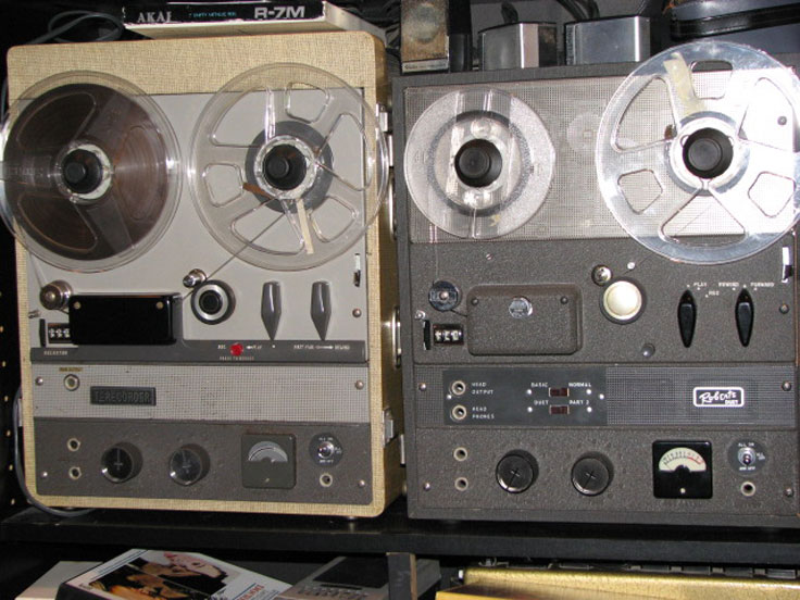 Roberts Duet and Akai Terecorder designed after the Ampex 600