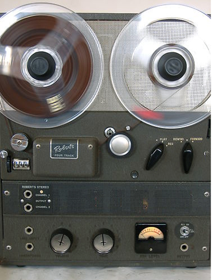 Roberts Four Track reel to reel tape recorder in the Reel2ReelTexas.com - Museum of Magnetic Sound Recording vinyage recording collection