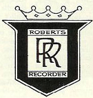 Roberts Recorder logo in the Reel2ReelTexas.com vintage recording collection