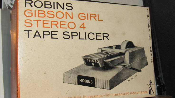 Robins Gibson Girl Splicer  in the Reel2ReelTexas/MOMSR/Theophilus vintage reel tape recorder recording collection