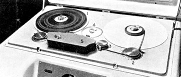 Photo of the EMI BRT1 reel tape recorder provided to the Museum of Magnetic Sound Recording by Roger Wilmut, BBC engineer from 1960
