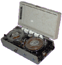 Photo of the Fi-Cord reel tape recorder provided to the Museum of Magnetic Sound Recording by Roger Wilmut, BBC engineer from 1960
