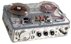 Photo of the Nagra  reel tape recorder provided to the Museum of Magnetic Sound Recording by Roger Wilmut, BBC engineer from 1960