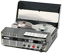 Photo of the Uher reel tape recorder provided to the Museum of Magnetic Sound Recording by Roger Wilmut, BBC engineer from 1960
