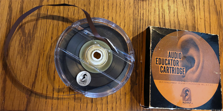 SDRF Audio Educator Cartridge in the MOMSR / Reel2ReelTexas.com /Theophilus vintage reel tape recorder recording collection