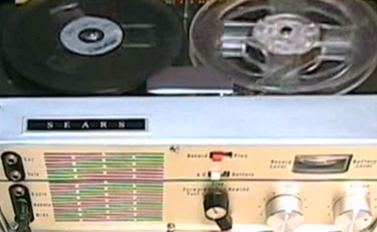 "Sears Silvertone 7245 5"" tape recorder"