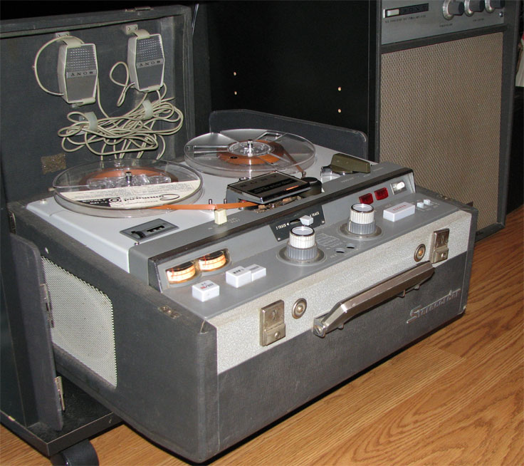 1957 Sony 300 reel tape recorder in the Reel2ReelTexas.com vintage recording collection