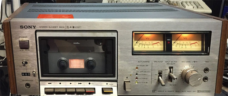 Ampex Mirco 7 cassette recorder & Sony TCS-310 cassette recorder in Reel2ReelTexas.com  vintage recording collection