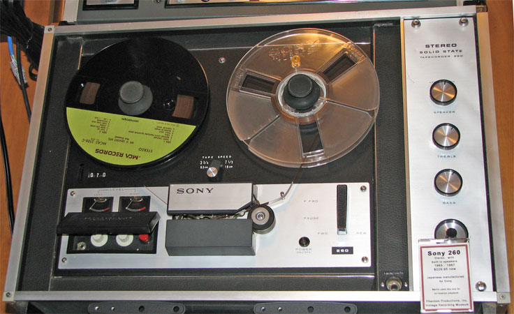 1965 Sony TC-260  reel tape recorder  in the Reel2ReelTexas.com vintage recording collection