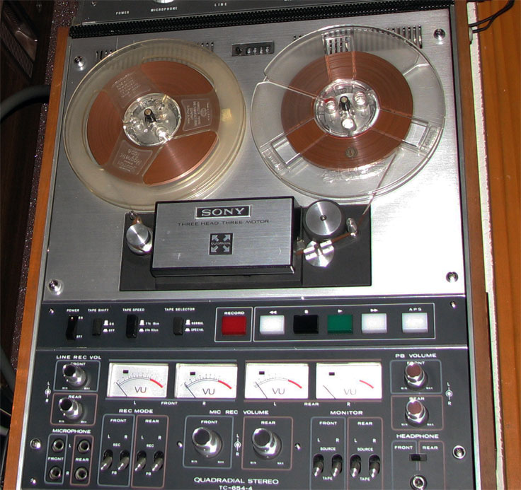 1971 Sony TC-651 reel tape recorder  in the Reel2ReelTexas.com vintage recording collection