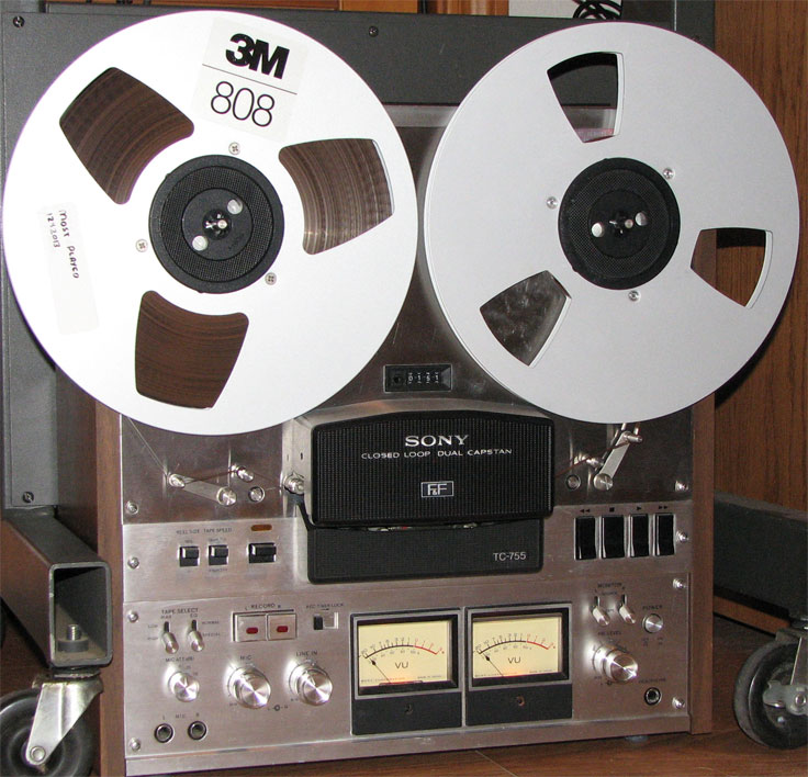 1974 Sony TC-755 reel tape recorder  in the Reel2ReelTexas.com vintage recording collection